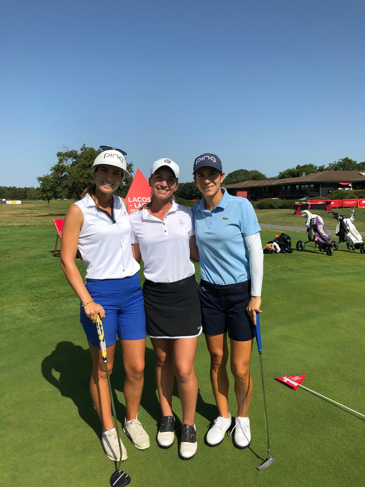 Azahara, Noemi and Laura, together again at the Lacoste Ladies French Open