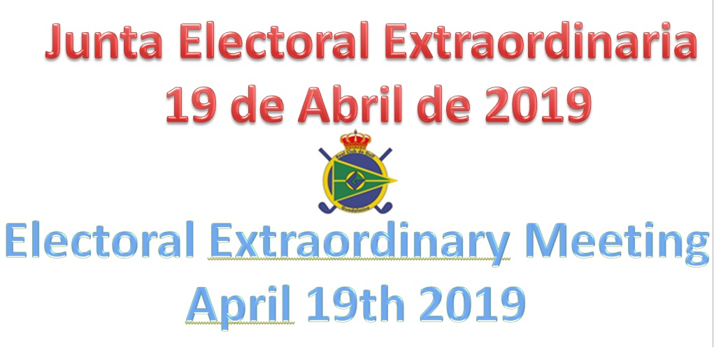 ANNOUNCEMENT OF EXTRAORDINARY ELECTORAL MEETING