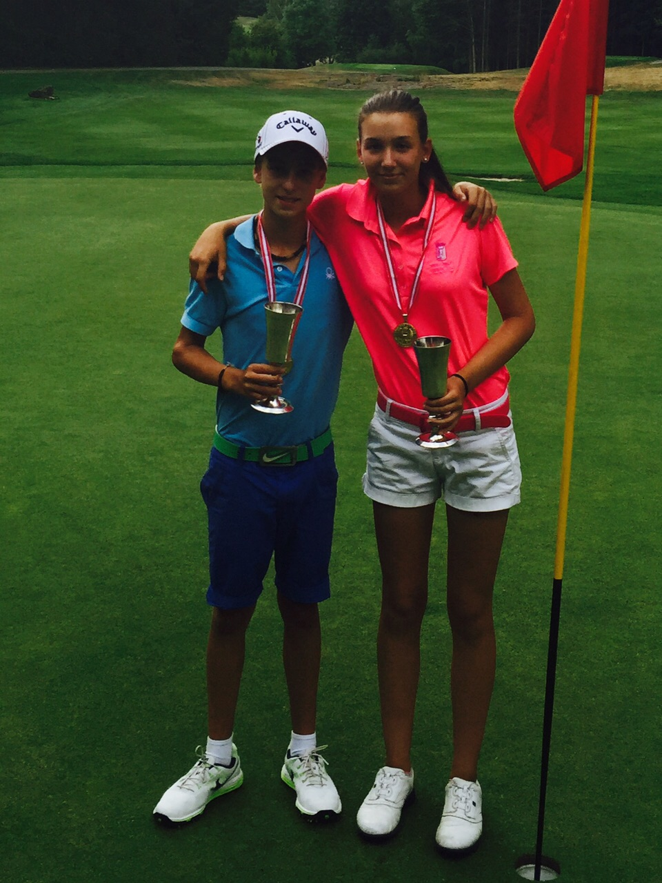 Two brothers, and Members of our Club, Champions in the Austrian Open under 14