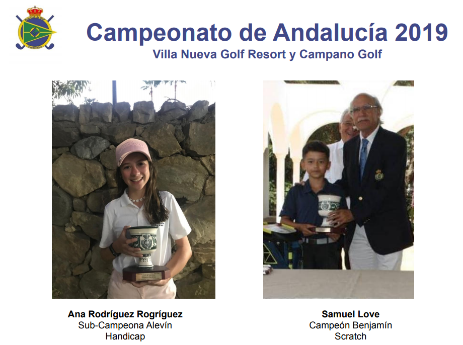 Gold and silver for Samuel Love and Ana Rodríguez Rodríguez in the Andalusian Championship Alevín and Benjamín