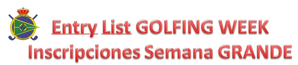CLUB GOLFING WEEK INSCRIPTION LISTS