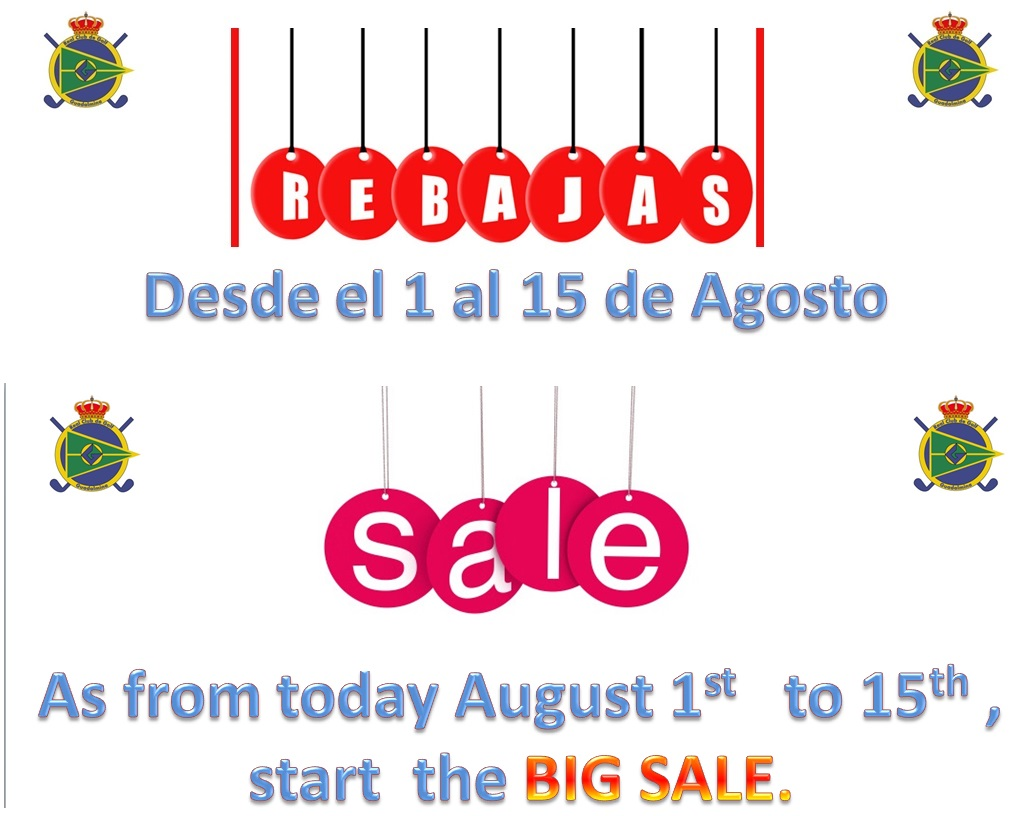 BIG SUMMER SALES at our Proshop
