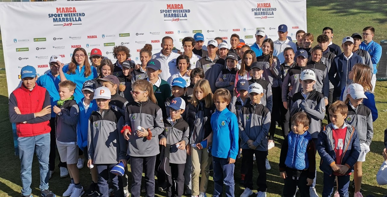 #MarcaSportWeekend organized a spectacular golf clinic with Sergio García in Guadalmina