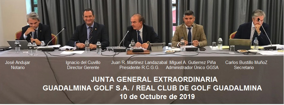 JUNTAS GENERALES DE GUADALMINA GOLF S.A. Y DEL REAL CLUB DE GOLF GUADALMINA