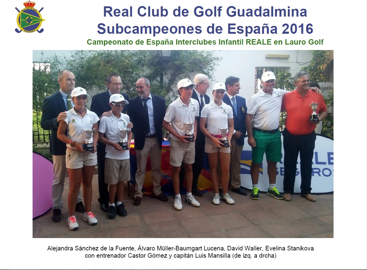 Our Club Runner up at the Spanish Interclub Under 14 Champioship