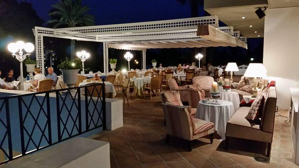 Upper terrace of the Restaurant open during the summer