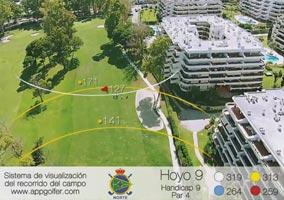 Campo Norte - Hoyo 9 - Handicap 9 - Par 4