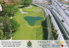 Campo Norte - Hoyo 11 - Handicap 18 - Par 3