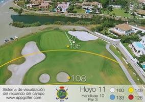Campo Sur - Hoyo 11 - Handicap 10 - Par 3